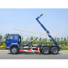 6x4 RHD Hook Lift Garbage Truck