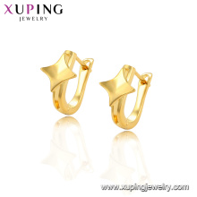 96578 Xuping 24K gold Plated rhombus shape elegant style Huggie earrings