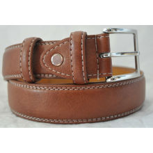 Men's Brown wholesale leather belt blanks Double Stitched