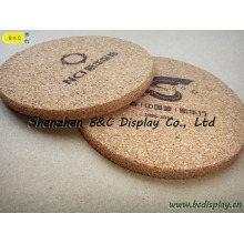 Waterproof Heat-Resistant Cork-Backed Coasters, Cork Coasters (B&C-G072)