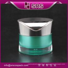Frasco de plástico com tampa de parafuso e forma única rodada cintura 30g 50g acrílico frascos cosméticos de creme garrafas