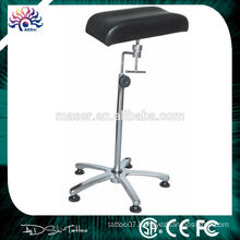 Height adjustable leather tattoo leg rest chair, made in China professional leg rest stool tattoo armrest, new tattoo arm rest