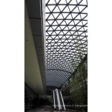 Façade décorative en verre de revêtement extérieur pour le toit de bâtiment de bureau