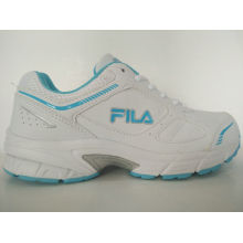 Outdoor White PU Sports Running Shoes for Women