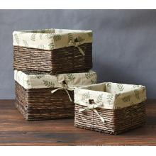 (BC-ST1070) Good Quality Pure Manual Natural Straw Basket