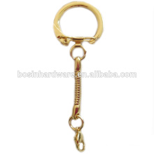 Fashion High Quality Metal Gold Snake Key Chain Lobster Clasp