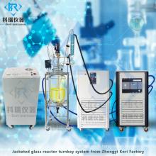 Réacteur en verre agité numérique pour mélanger sous agitation