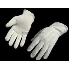 NMsafety 100% algodão luvas de mão de malha com mini pontos de PVC