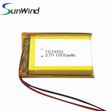 Customzied 3.7v Li-polymer Battery Cell 103450 1800mah
