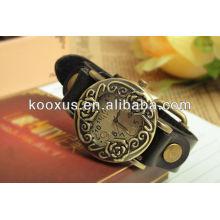 2013 neue Art echtes Leder Uhr