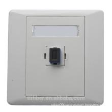 Single port SC/UPC plastic fiber optic faceplate / socket