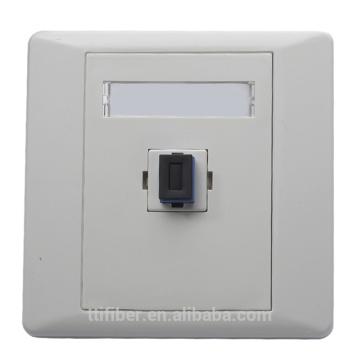 Faceplate / prise en fibre optique en plastique SC / UPC à un seul port