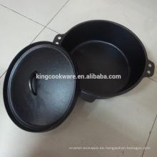 Olla de utensilios de cocina de hierro fundido para camping y aire libre