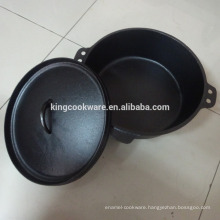 camping cast iron cookware pot for camping and outdoor
