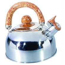 Aço inoxidável assobiar chaleira pote de chá