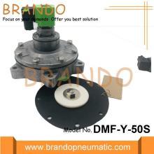 Válvula neumática de chorro de acero inoxidable DMF