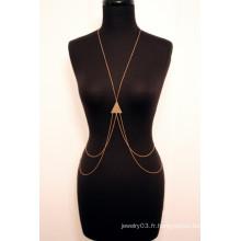 Les dernières bijoux femmes design féminin, chaînes féminines sexy taille corps
