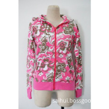 Ladies Printing zipper coat