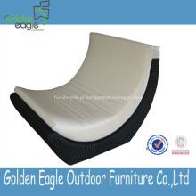 Elegância de luxo PE rattan e sofá de jardim de alumínio