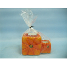 Artisanat en céramique en forme de chandelier de citrouille (LOE2365-12z)