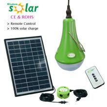 Alta calidad kit de iluminación solar, ventilador solar y sistema de iluminación solar de luz led