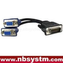 DVI mâle à VGA femelle + câble adaptateur femelle 3RCA