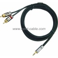 DR serie doble Cable RCA a 3,5 mm Stereo Jack RCA
