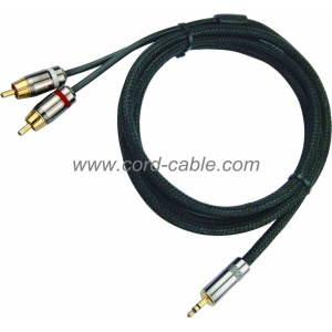 DR Series Dual RCA to 3.5mm Stereo Jack RCA Cable