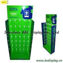 Counter Floor Pop Display, Corrugated Paper Display with Hooks, Display Stand, Cardboard Display (B&C-B032)