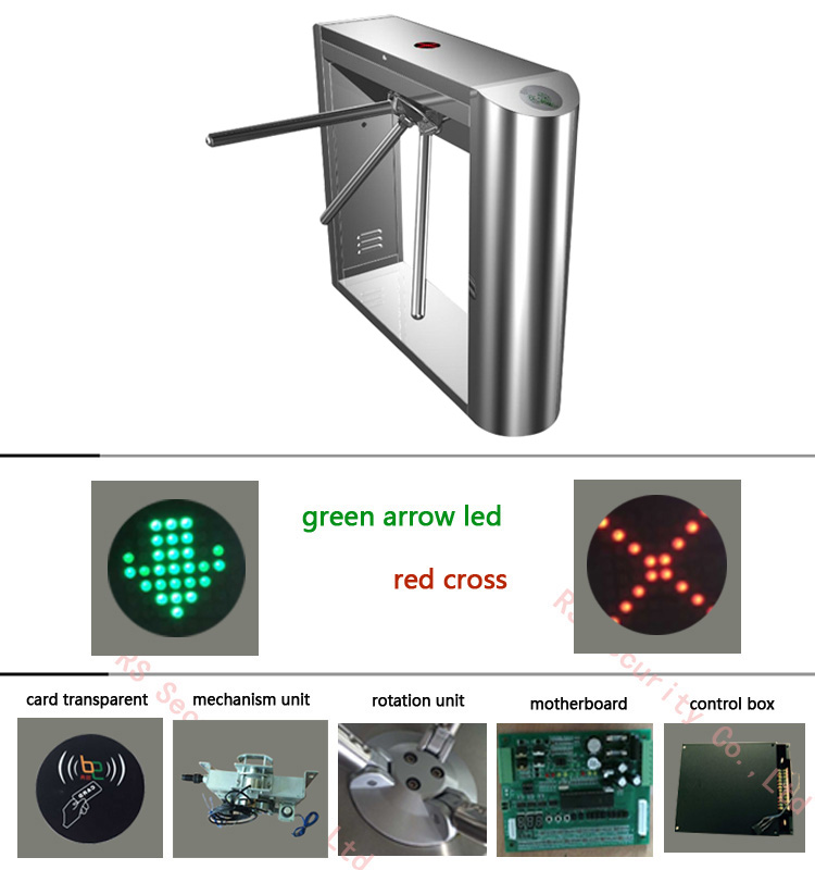 Building Entrance Access Control Tripod Turnstile Systems