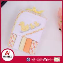 Toalla de baño del paquete de combinación, toallas de baño animales súper suaves para niños, toalla de baño de dibujos animados para niños con capucha