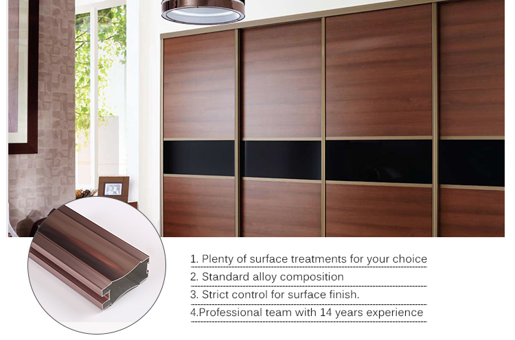 Aluminium Profile sliding wardrobe door
