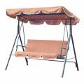 columpio de patio con muebles de exterior con dosel