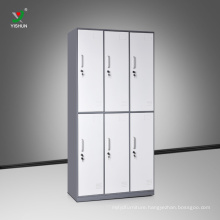 Factory direct steel gym changing room locker charging lockers 6 compartment