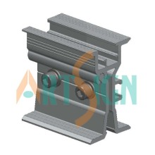Metal Rooftop Clip Fixings Solar Energy Solar Mounting Structure