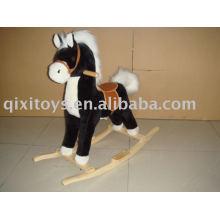 cavalo de balanço de pelúcia, brinquedo cavaleiro criança