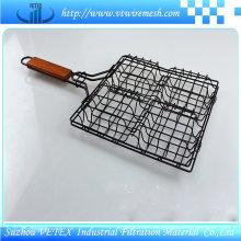 Malla de alambre de barbacoa de acero inoxidable utilizada en el restaurante