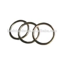 Moda de alta qualidade Metal não soldado anel redondo