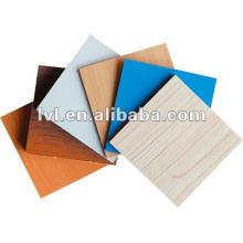 Muebles de calidad MDF / HDF para exportación con papel de melamina de colores