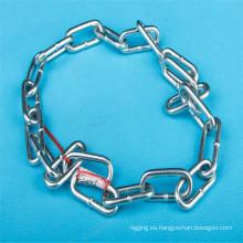 Galvanizada DIN 766 enlace larga cadena