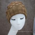 Nueva moda de rayas de rayas de color degradado hombres de tejer sombrero de invierno