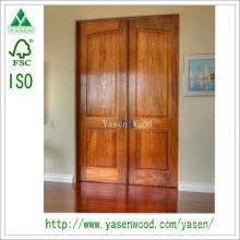 Puerta de madera exterior tradicional del diseño de la fábrica de China