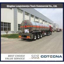 3 ejes 40000L-50000liters Aceite de gasolina de aleación de aluminio Tanque de tanque de combustible de combustible Semi remolque