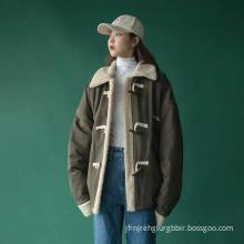 Thickened lamb wool short cotton jacket