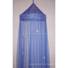 Blue luminated star canopy/ shinning top mosquito net/star canopy/foldable mosquito net/home textile product