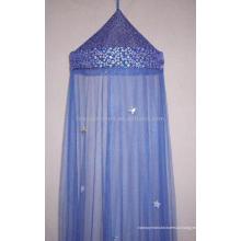 Голубая освещаемая звезда навес / сверкающая верхняя москитная сетка / звездный тент / складная противомоскитная сетка / домашний текстильный продукт