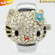 Quite Cute Finger Ring Watch with Hello-Kitty Cover (SA2050)