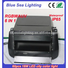 2015 Guangzhou Fabrik Preis 60pcs x 18w rgbwa uv 6in1 ip65 Wand Waschmaschine geführt