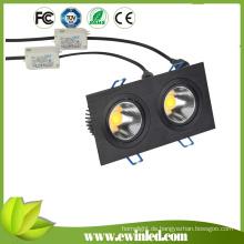 Hoher Lumen PFEILER angetriebenes quadratisches Downlight vertiefte LED-Lichter
