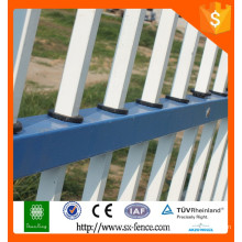 Profesional tubo cuadrado tubo decorativo de hierro cerca